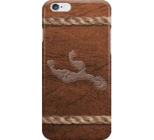Western Theme - Spurs, Leather & Rope iPhone Case/Skin