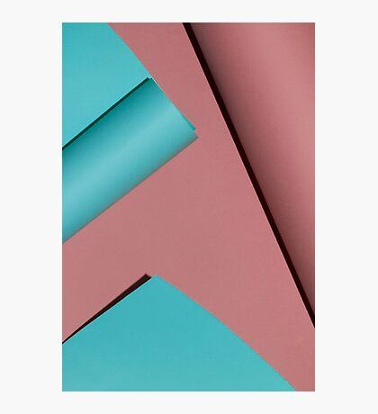 Pink & Blue. Abstract. Photographic Print