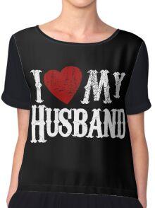 i love my husband Chiffon Top