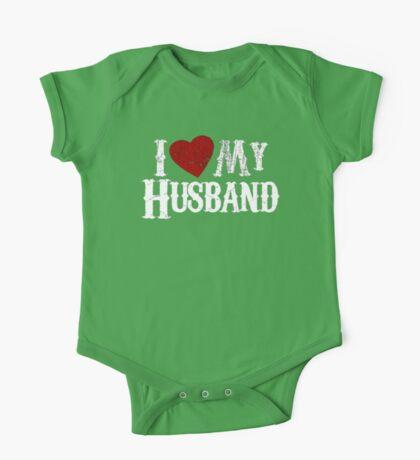 i love my husband One Piece - Short Sleeve