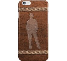 Western Theme - Cowboy, Leather & Rope iPhone Case/Skin