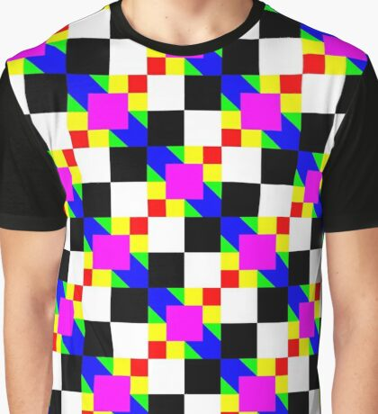 Colorful squares pattern Graphic T-Shirt