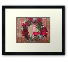 christmas wearth Framed Print