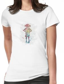 Dobby watercolor Womens Fitted T-Shirt