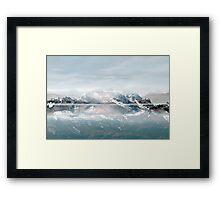 Sunken Snow Framed Print