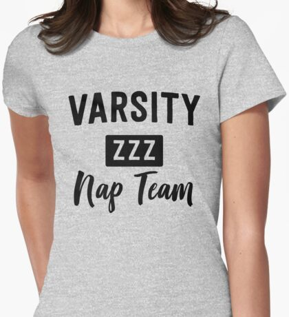 Varsity Nap Team Womens Fitted T-Shirt