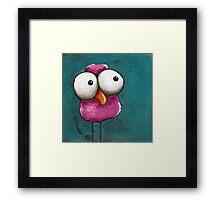 The pink bird Framed Print