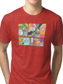 Psychedelic Finger Comic Tri-blend T-Shirt