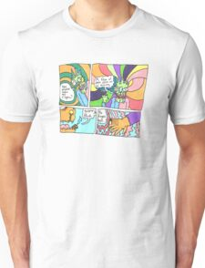 Psychedelic Finger Comic Unisex T-Shirt