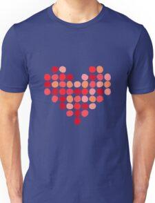 Heart made of dots Unisex T-Shirt