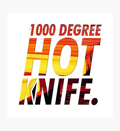 EXPERIMENT Glowing 1000 degree KNIFE VS HUMAN tshirt art!!! Photographic Print