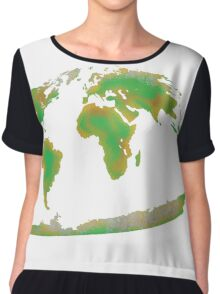 Continents of the World Chiffon Top