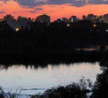 Regina Skyline from Douglas Park Hill Sticker