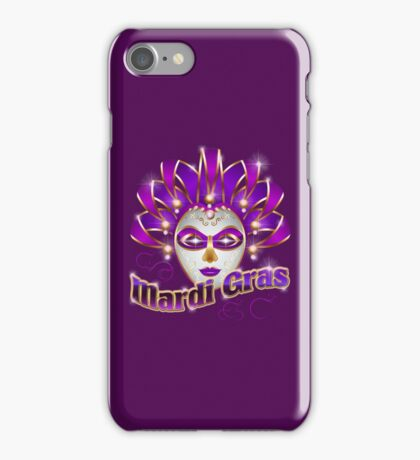Mardi Gras Carnival Colorful New Orleans Celebration Wear iPhone Case/Skin