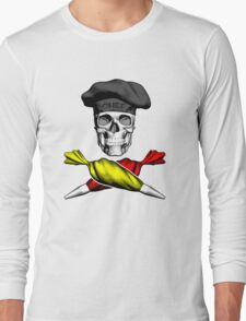 Pastry Chef Skull Long Sleeve T-Shirt