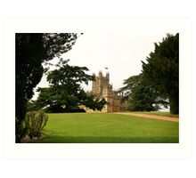 Downton abbey house and grounds Art Print