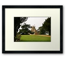Downton abbey house and grounds Framed Print
