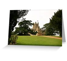 Downton abbey house and grounds Greeting Card