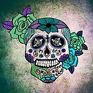 Sweet Sugar Skull blue edition by sandra arduini