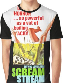 Say You Love Satan 80s Horror Podcast - Scream Stream Graphic T-Shirt
