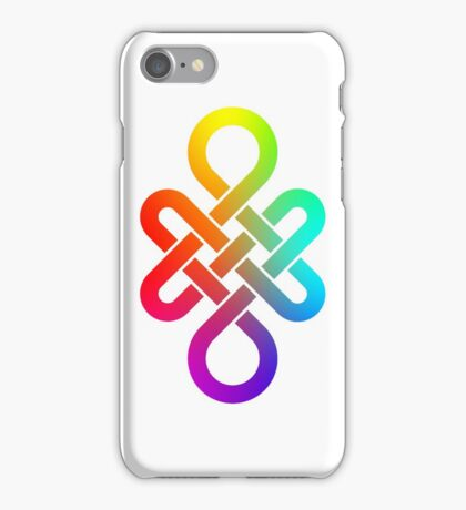 Infinity knot in rainbow gradient iPhone Case/Skin