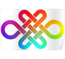 Infinity knot in rainbow gradient Poster