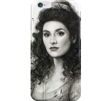 Deanna Troi Watercolor Portrait | Star Trek Fan Art iPhone Case/Skin
