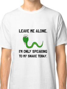 Alone Speaking Snake Classic T-Shirt