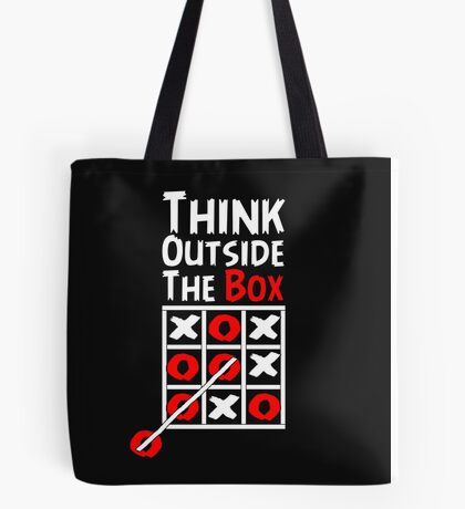 Think Outside the Box - X O games Fun by Aariv Tote Bag