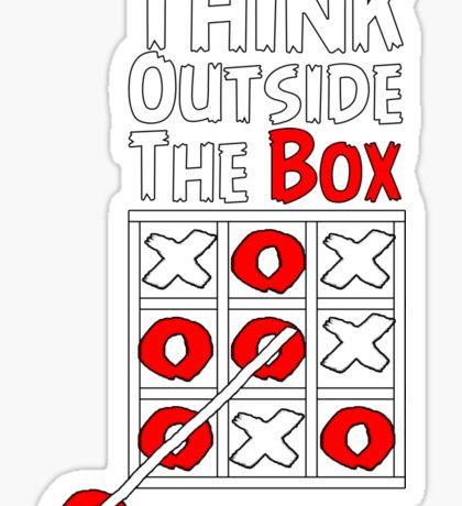 Think Outside the Box - X O games Fun by Aariv Sticker