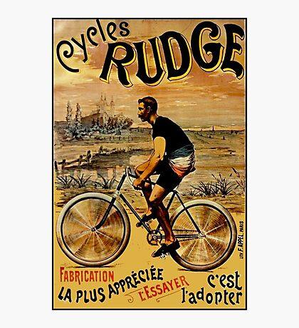 CYCLES RUDGE; Vintage Bicycle Print Photographic Print