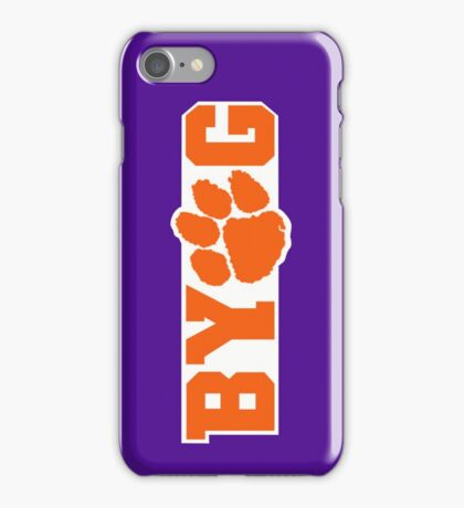 Bring Your Own Guts Clemson Tigers iPhone Case/Skin