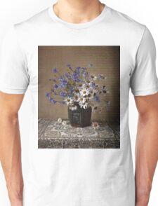 Blue and white bouquet Unisex T-Shirt
