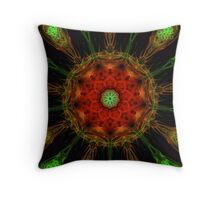Amoeba Mandala (Autumn star) Throw Pillow