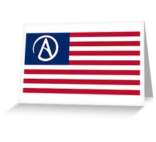 American Atheist Flag Greeting Card