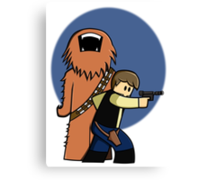 Han and Chewie Mini Canvas Print