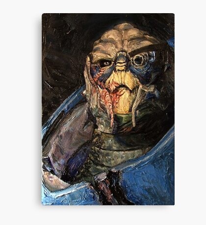 Garrus Vakarian Oil Painting Canvas Print