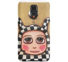 The Harlequin girl & crow Samsung Galaxy Case/Skin