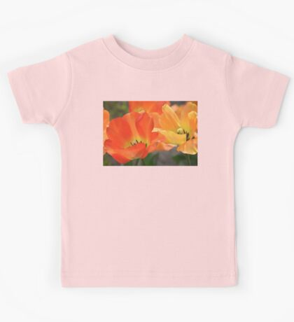 Orange Tulips Kids Tee