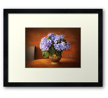 Romantic Hydrangeas Framed Print