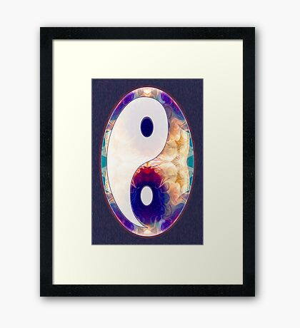 Light And Dark Energies Abstract Symbol Art Framed Print