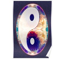 Light And Dark Energies Abstract Symbol Art Poster