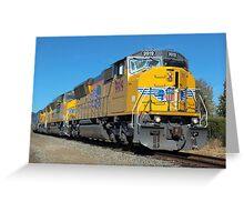 Diesel Locomotive UP 9919, SD59MX, Union Pacific Railroad, Napa, California  Greeting Card