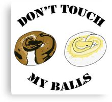 Ball Python T-shirt - Don't Touch Canvas Print