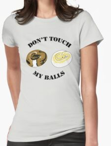 Ball Python T-shirt - Don't Touch Womens Fitted T-Shirt
