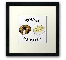 Ball Python T-shirt - Touch Framed Print