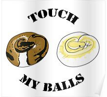 Ball Python T-shirt - Touch Poster