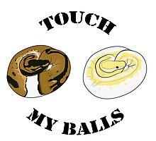 Ball Python T-shirt - Touch Photographic Print