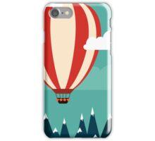 Hot air ballon illustration iPhone Case/Skin