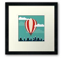 Hot air ballon illustration Framed Print